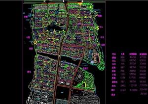 某乡镇规划绿化cad平面图