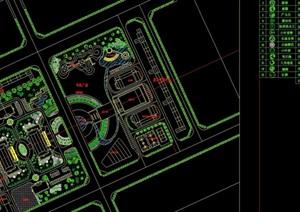 机关单位办公绿化景观设计cad图