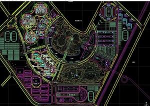 某大学新校区完整设计cad平面图