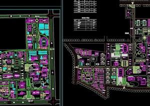 某详细的新校区规划cad平面图