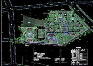某详细完整的校园规划cad方案图