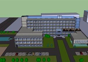 某详细的精致医院设计SU(草图大师)模型