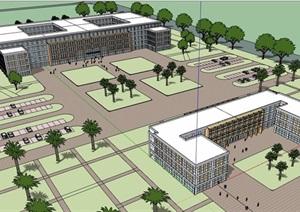 一个非洲的综合医院设计SU(草图大师)模型