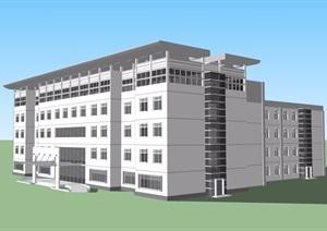 详细的五层卫生院建筑楼设计SU(草图大师)模型