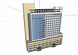 详细的医院高层建筑楼设计SU(草图大师)模型