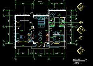 别墅室内装修设计施工图
