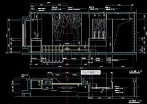 两款现代电视墙设计图纸