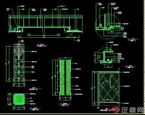 洗浴中心吊頂及裝飾柱詳圖