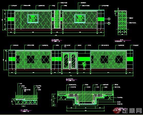 洗浴中心立面設計圖紙
