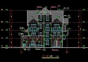某欧式别墅建筑设计施工图