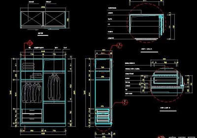 雙開衣柜詳圖