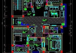 双层精装别墅室内设计平面图