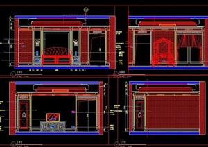 欧式主卧室内设计立面图