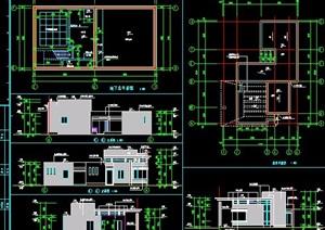 门卫及水泵房建筑设计图纸