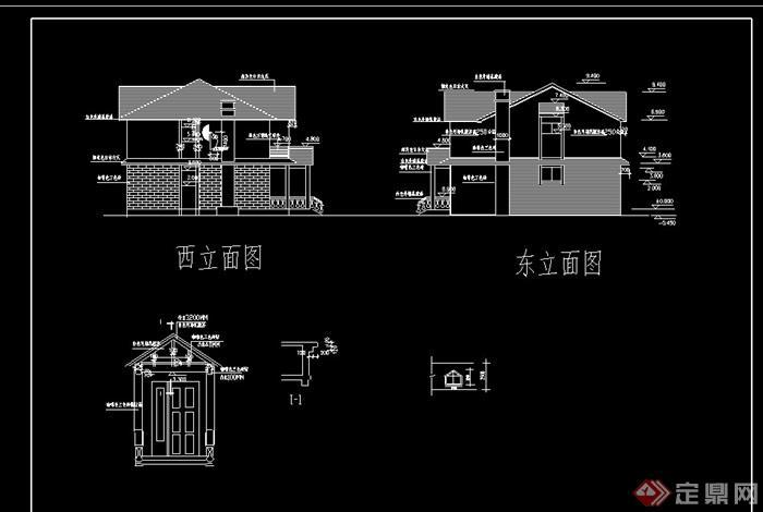 多層別墅戶型詳細cad建施圖