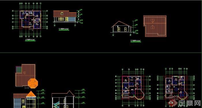 度假村別墅設計cad方案