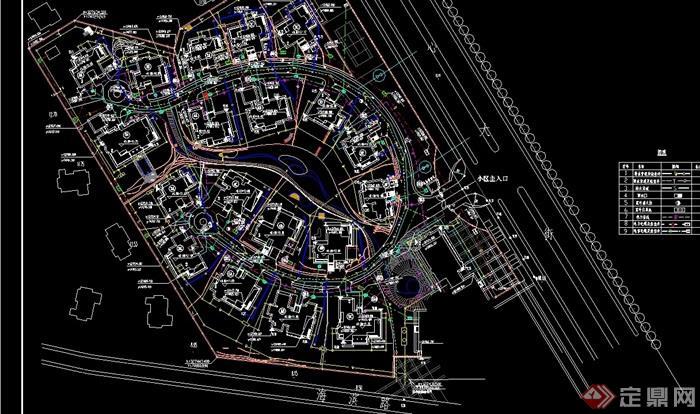 別墅綜合規劃設計cad布置圖