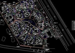别墅综合规划设计cad布置图