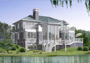 别墅设计cad方案带效果图