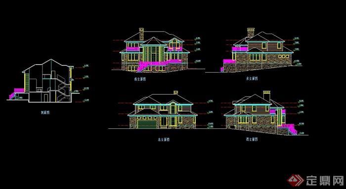 別墅設計cad方案帶效果圖