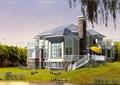 美式風格多層別墅設計cad方案帶效果圖