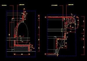 美式别墅壁炉详图