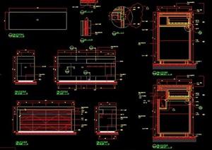 衣柜及边柜节点设计图纸