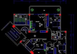 四室兩廳家裝住宅方案設計