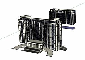 简单办公建筑楼设计SU(草图大师)模型