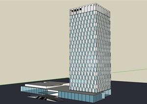 办公详细的高层建筑楼设计SU(草图大师)模型