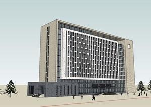 政府办公楼详细建筑楼设计SU(草图大师)模型