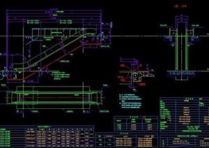 自动扶梯设计图纸素材