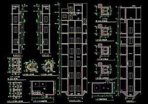 电梯井设计详图素材