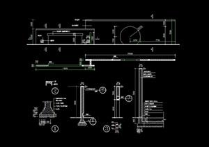 现代详细的完整景墙节点素材cad施工图