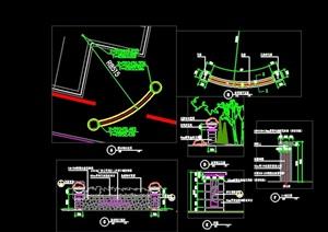 现代节点景观墙设计cad施工图