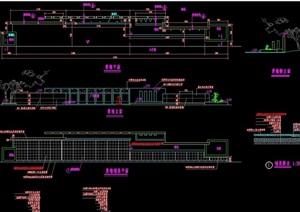 详细的整体完整景墙cad施工图