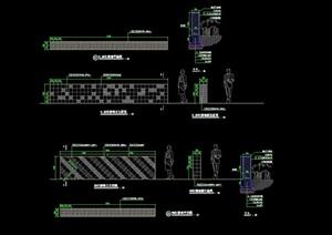 详细精致景墙素材cad施工图