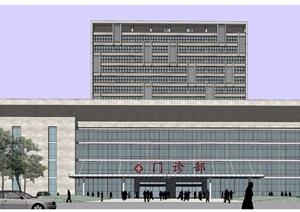 某详细的完美中医院建筑设计SU(草图大师)模型