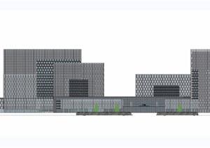 非常精细的医院建筑SU(草图大师)模型