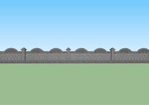 砖瓦砌筑景观花池SU(草图大师)模型
