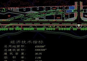 某滨江大道规划设计cad方案图