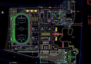 某详细的学院教学区规划cad方案图