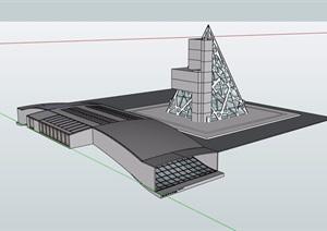 某独特详细的民族博物馆设计SU(草图大师)模型