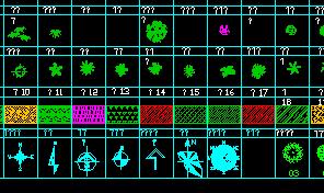 植物设计cad图例汇集