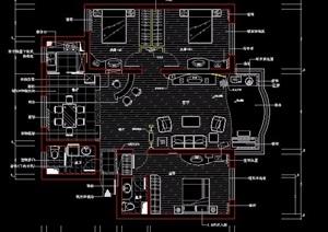 某三室兩廳住宅室內方案設計圖