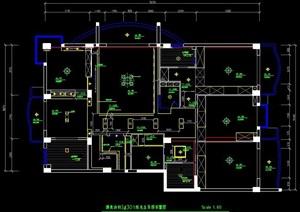 某五居室住宅裝修方案圖紙