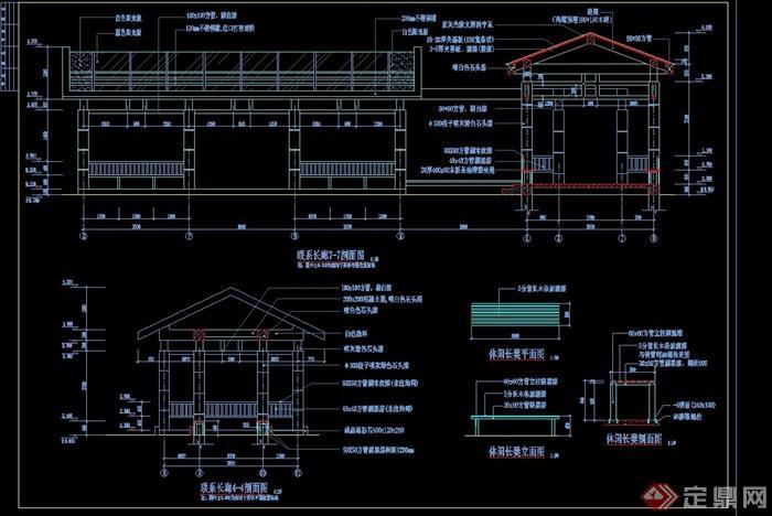 聯系長廊詳細完整設計cad施工圖
