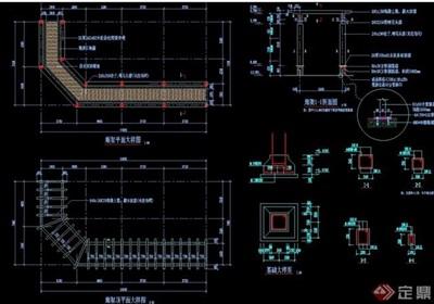 現代詳細的景觀廊架設計cad施工圖