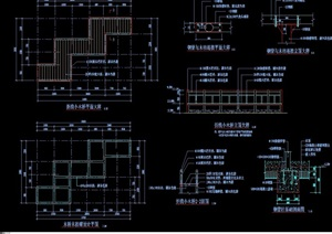 园林景观详细的节点小桥设计cad施工图