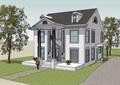 美式風格兩層詳細農村自建別墅設計su模型